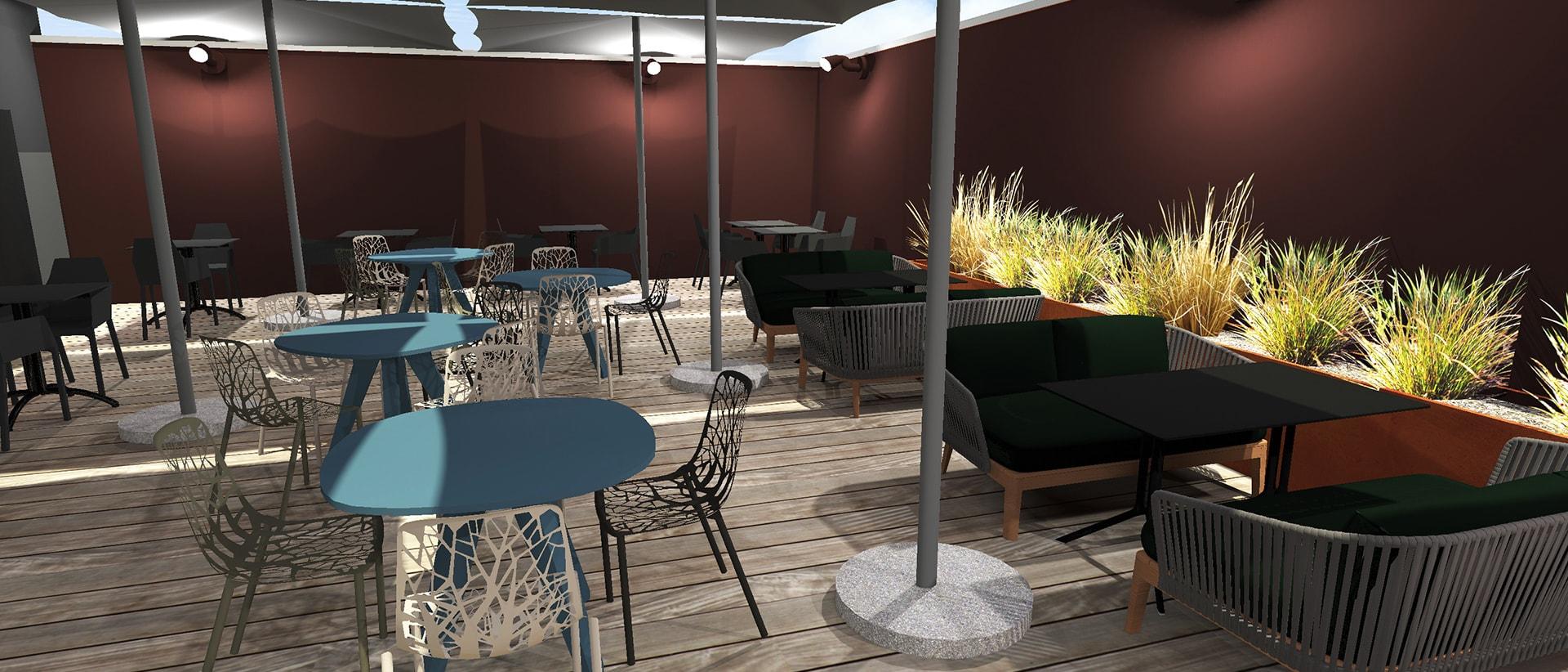 Réalisation d'une étude 3D pour un restaurant